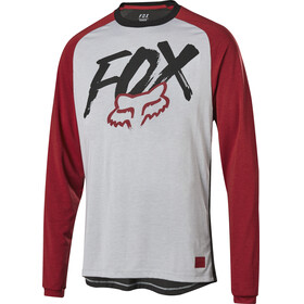 Fox Ranger Dri-Release Fox Bike Jersey Longsleeve Men grey/red
